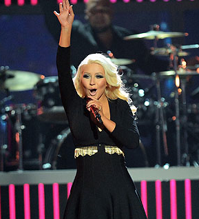 Christina Aguilera Shows Off…