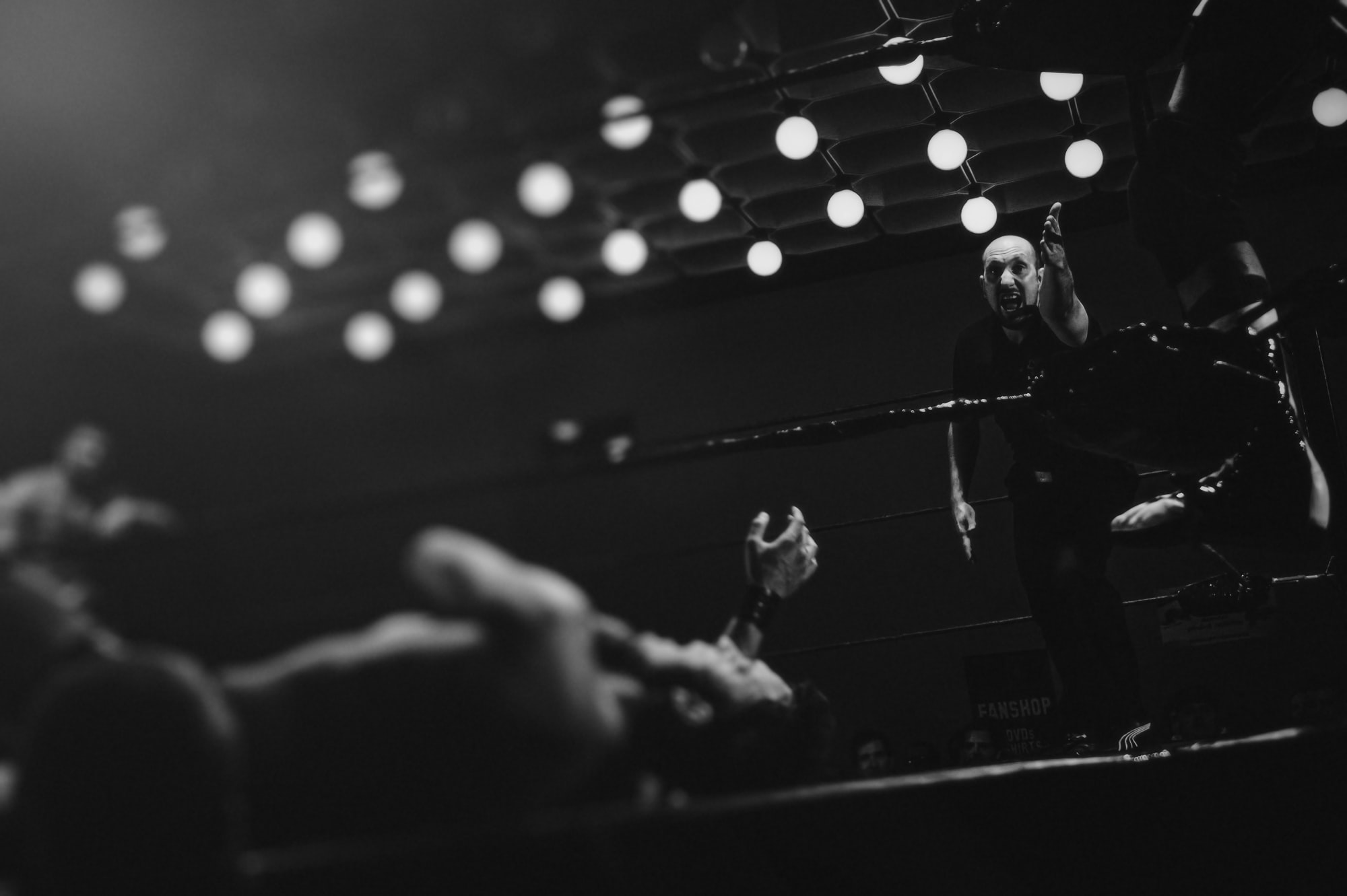 Wrestling ring knockout