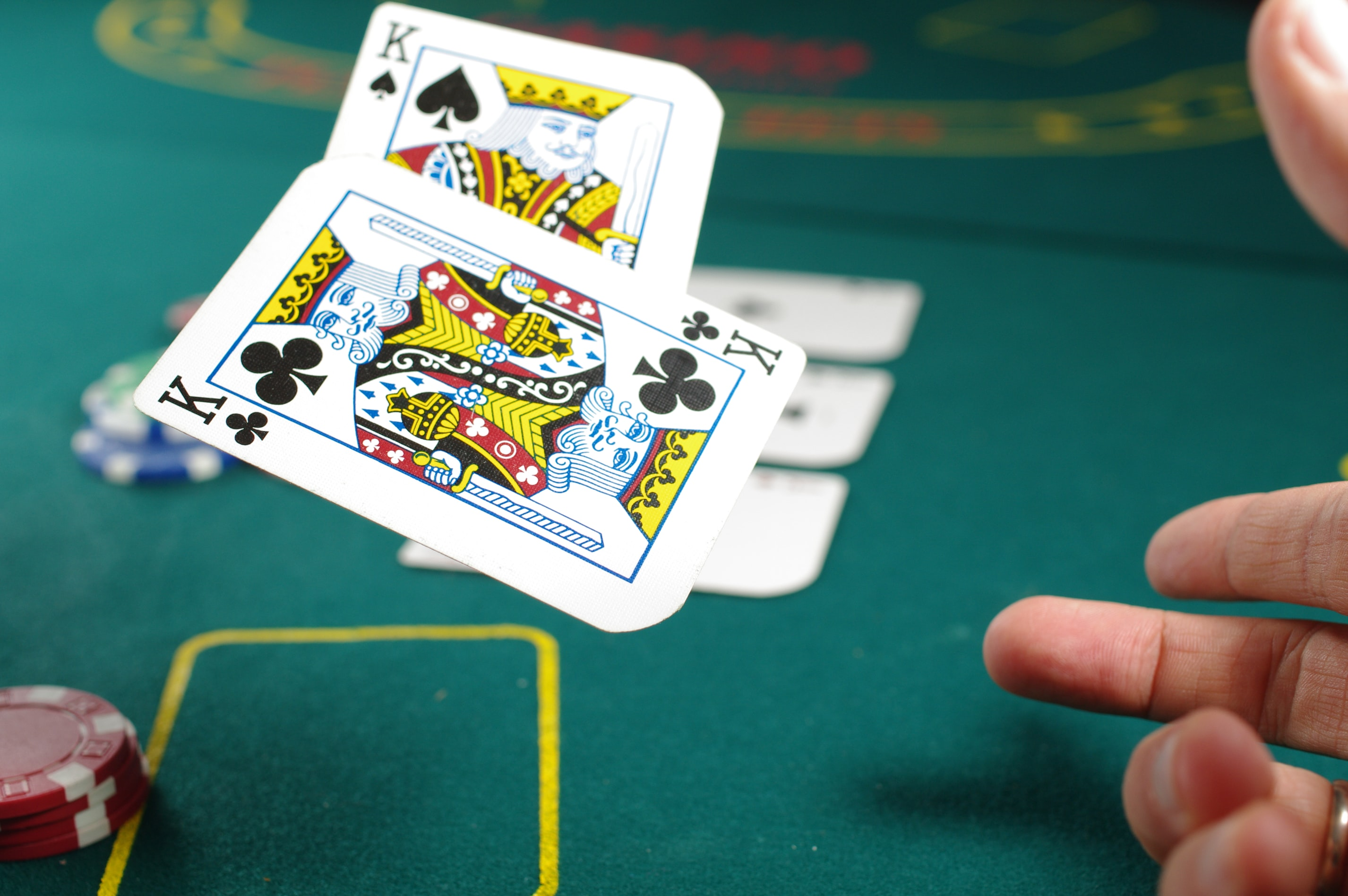 cards fall casino poker aces