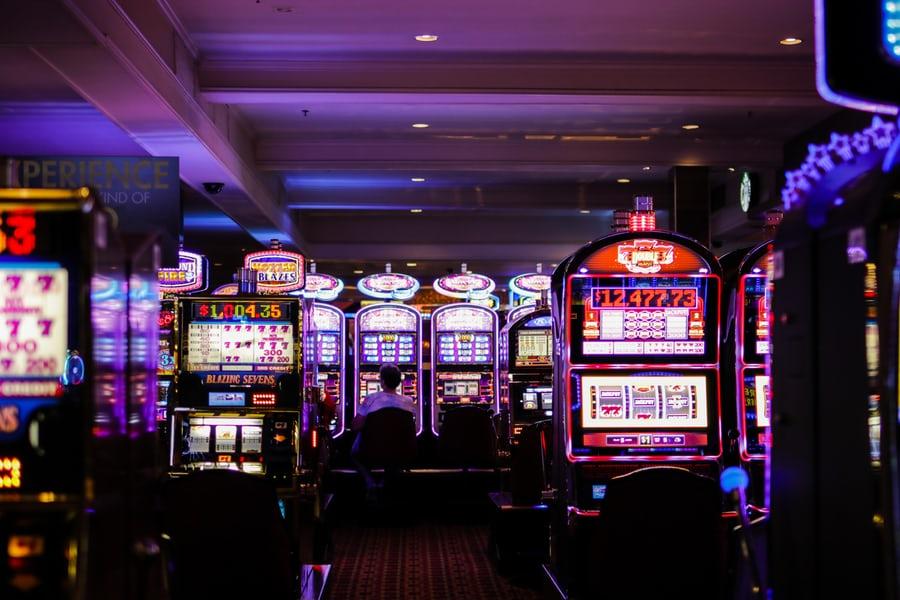 people on slot machine